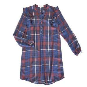 Cloth & Stone Ruffle Sleeve Tunic Dress Large